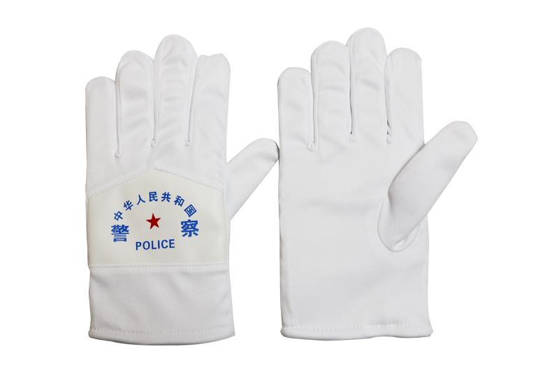 警用白布棉手套