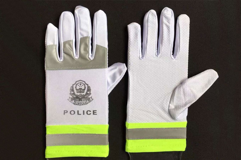 警察反光手套