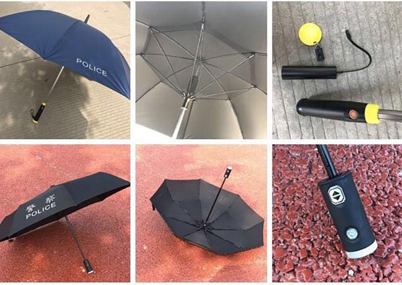 功能强大的警用雨伞
