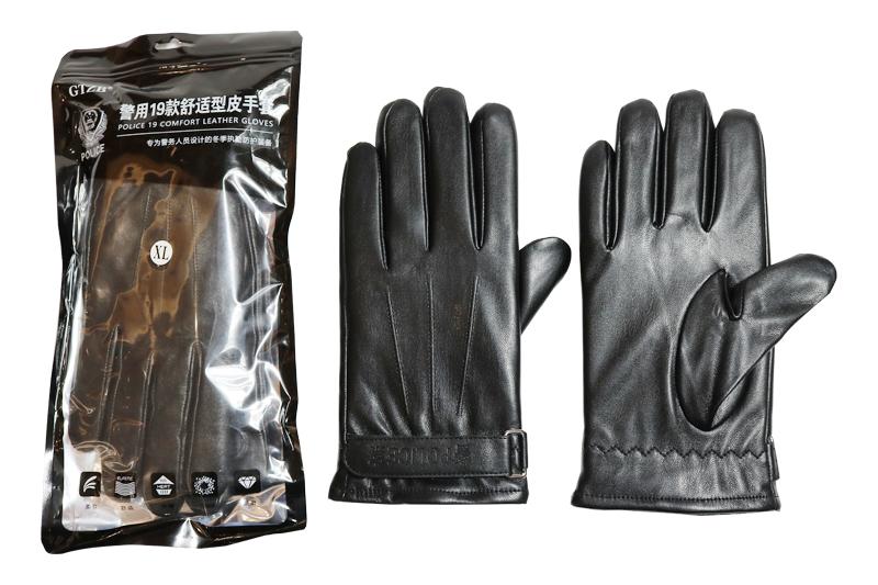 警察皮棉手套