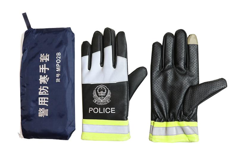 交警执勤皮手套